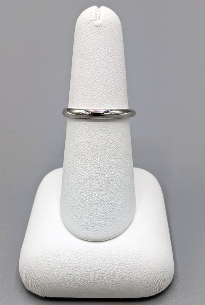 14 Karat White Gold Blue Topaz Solitaire Ring