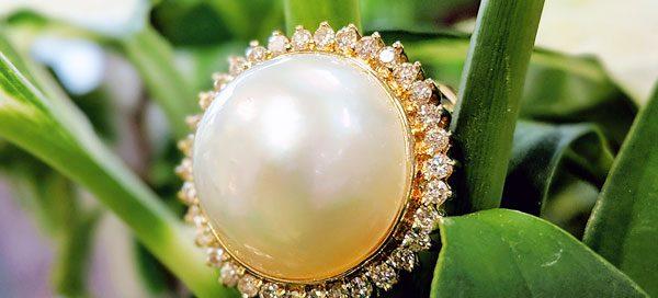 14 Karat Yellow Gold Pearl Ring