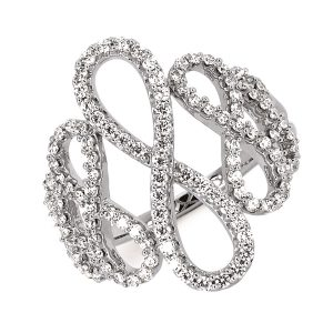 Ladies Multiple Infinity Ring