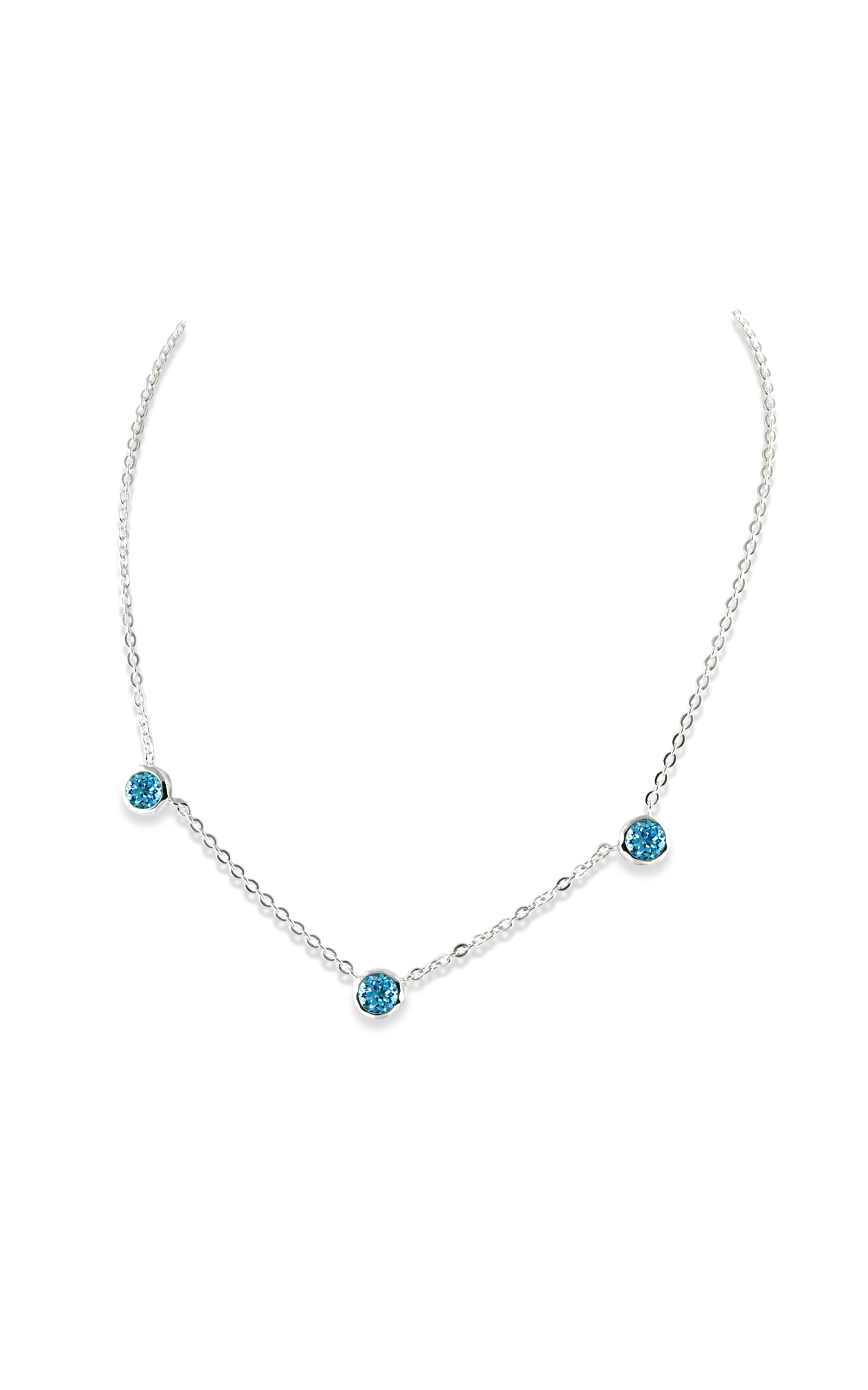 3 Stone Necklace P - A1633-17-BT