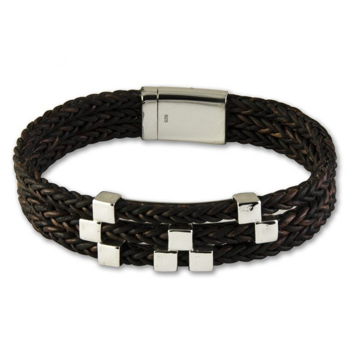 Brown Leather Bracelet - A2217-7
