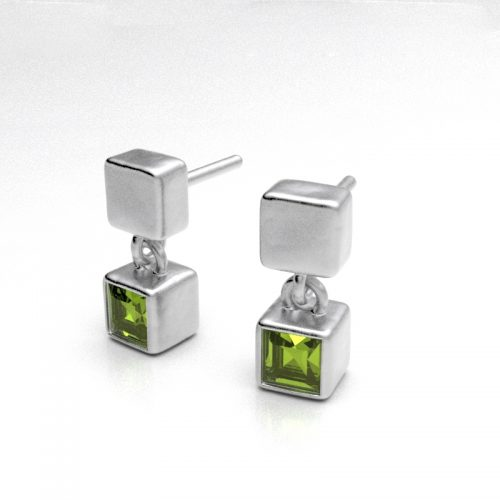 Peridot Ice Cube Earrings - B2217-P