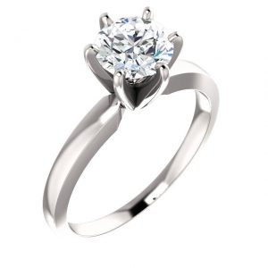 6 Prong Solitaire - Diamond Wedding Ring