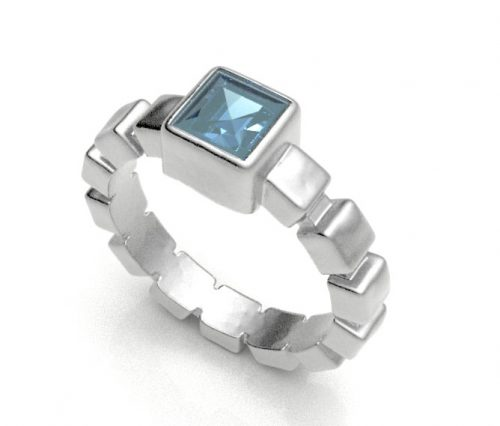 Topaz Ice Cube Ring Z2210-BT