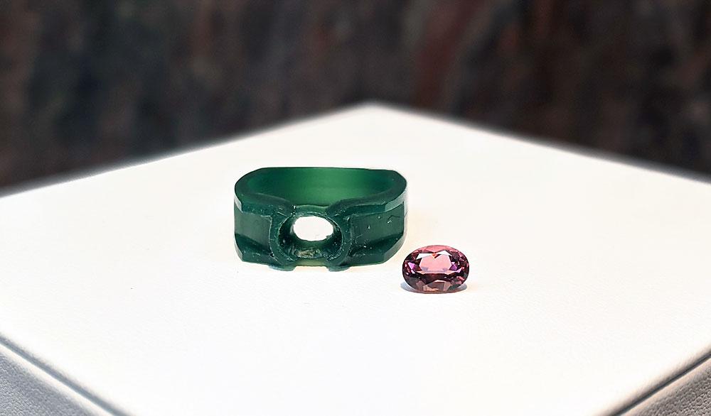 Custom jewelry process - wax carved ring.