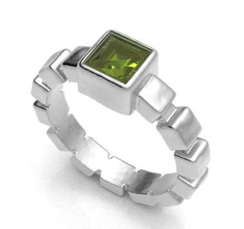 Peridot Ice Cube Ring - Z2210-P