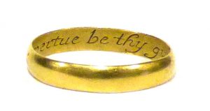 Posey Ring - engraved with flowery sayings