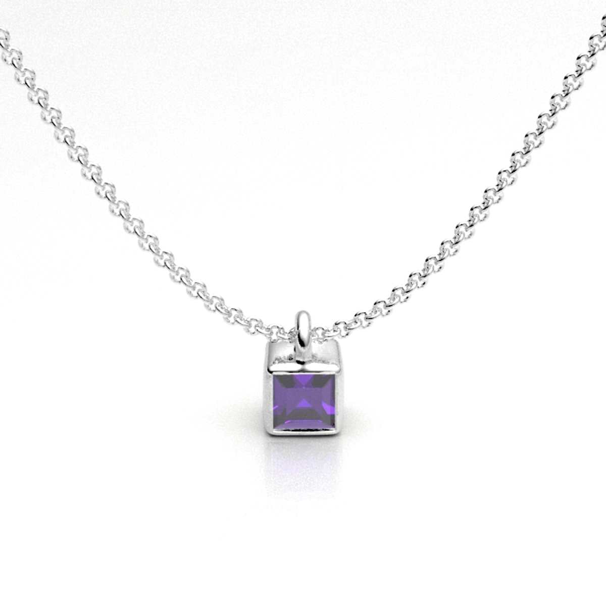 Amethyst Ice Cube Pendant - X2216-A