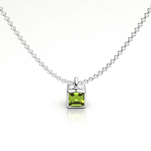 Peridot Ice Cube Pendant X2216-P