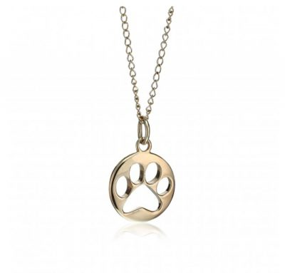 gold paw print pendant