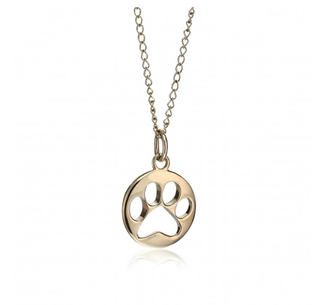 Gold Paw Print Pendant for Sale