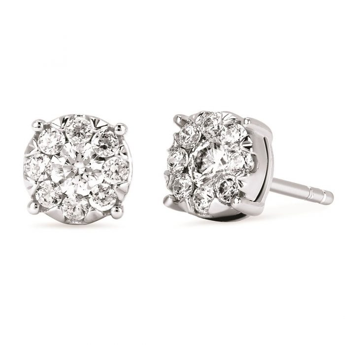 iCherish Diamond Stud Earrings