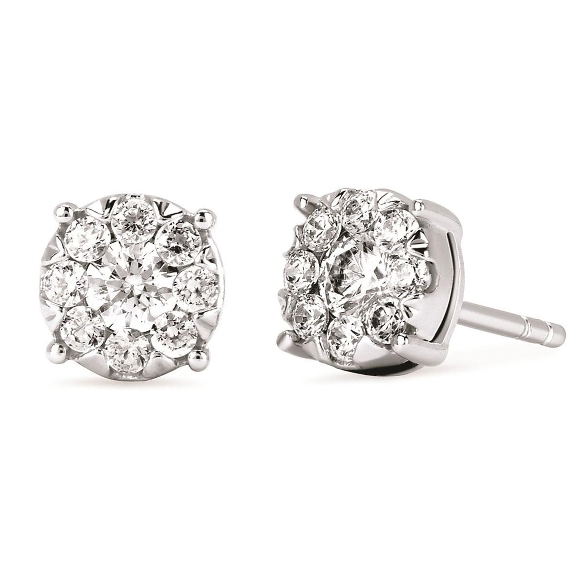iCherish Diamond Stud Earrings