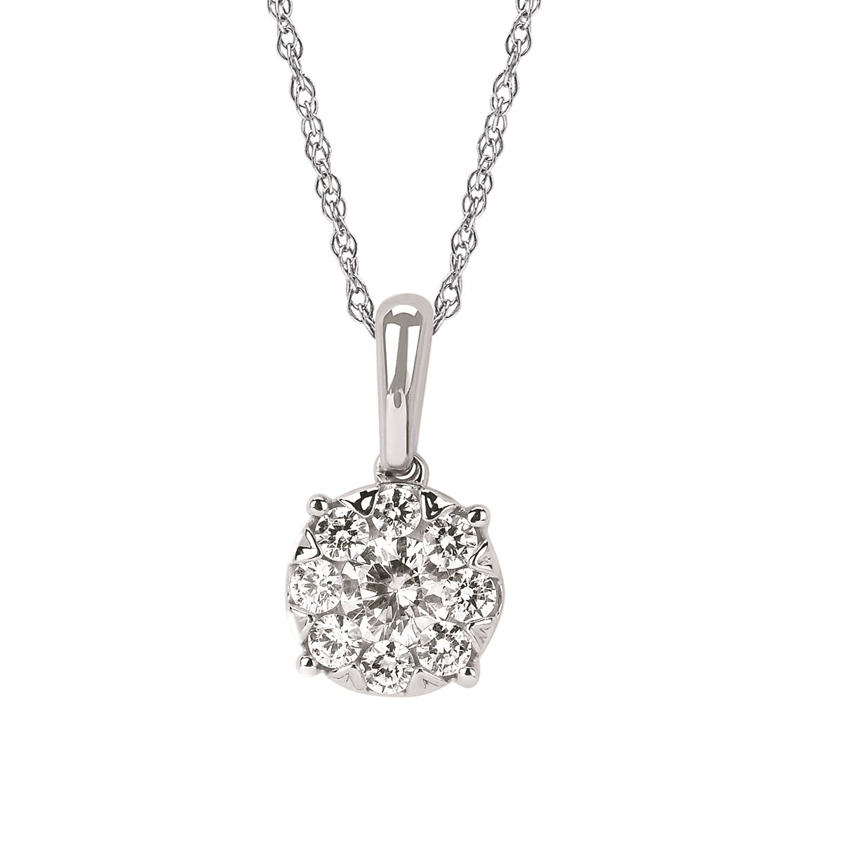 iCherish diamond cluster pendant