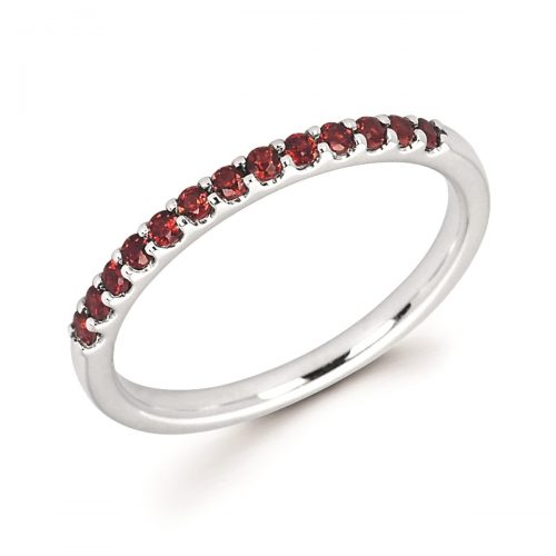 stackable garnet band